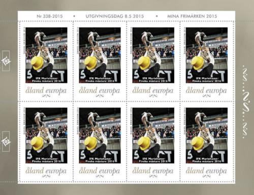 Åland Post juhlii jalkapallon Suomen mestareita omalla postimerkillä