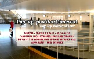 Pop-up-postikorttimessut Tampereella 26.5.2017