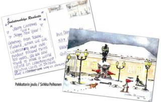 Joulukorttien maailmanennätysyritys Raahessa