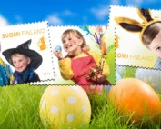 Lasten pääsiäisriemua helmikuun postimerkeissä
