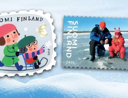 Matti Pikkujämsän kuvittamat ystävänpäiväpostimerkit koskettavat